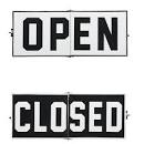 Open Closed skilt